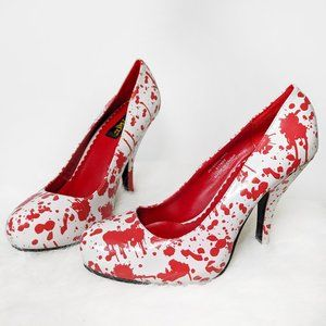 Spirit Halloween Blood Spattered Costume Shoes